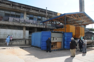 Bugando M.C. - Apertura del container della T.A.C.