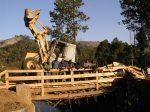 Il nuovo ponte sul Lukosi