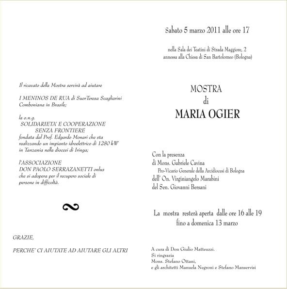 Mostra della pittrice bolognese Maria Ogier (2/2)