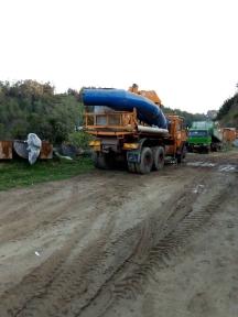 trasporto delle componenti della turbina in centrale